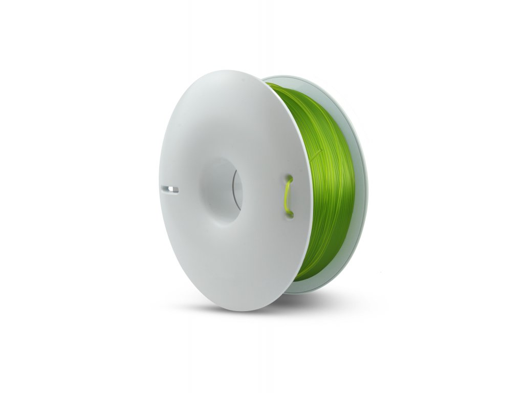 Fiberlogy tlačová struna PETG, priesvitná - light green transparent, 1,75mm, 0,85kg