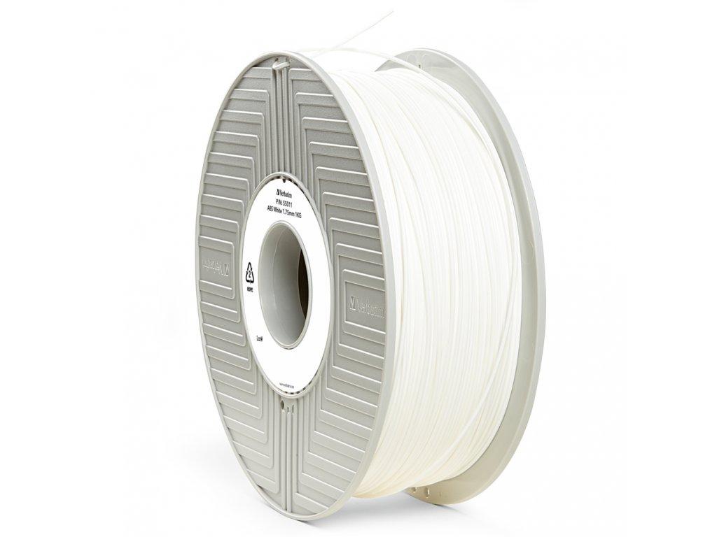 Verbatim tlačová struna ABS, white, 1,75 mm, 1 kg