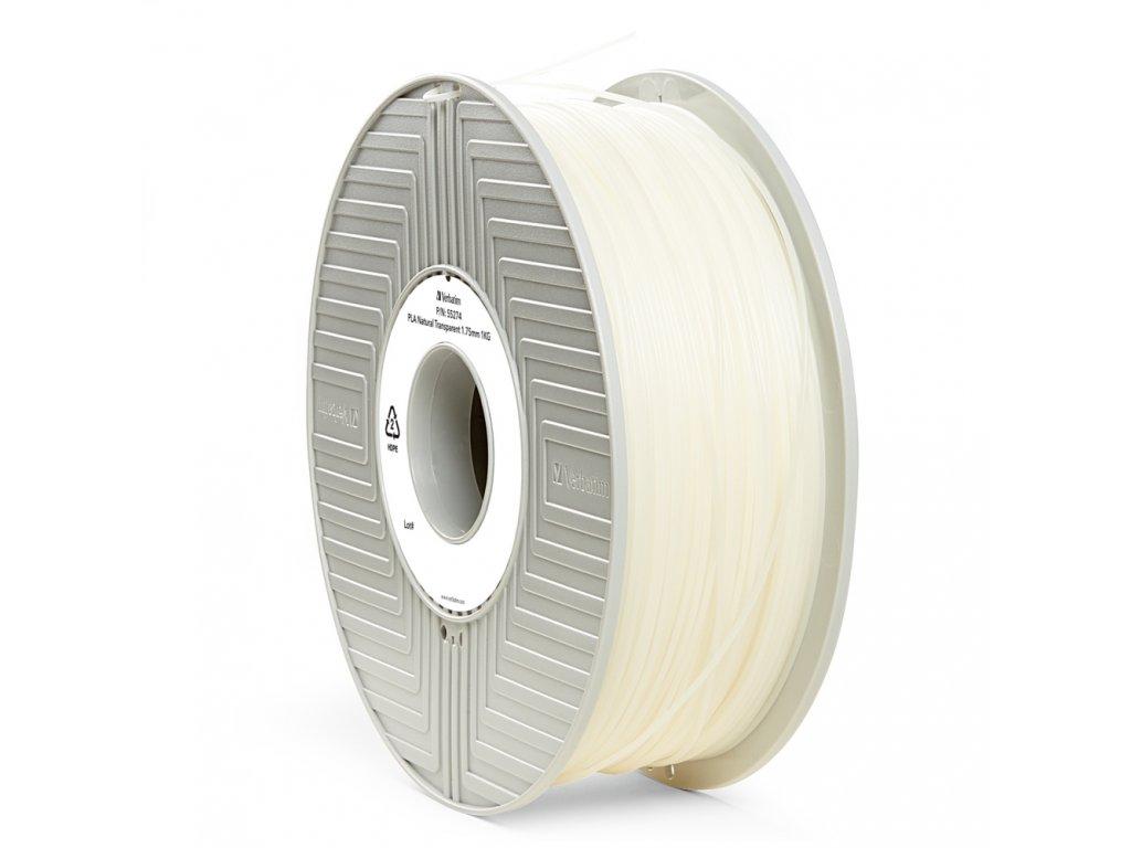 Verbatim tlačová struna PLA, prírodná priehľadná, 1,75 mm, 1 kg