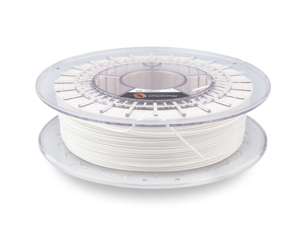 TPU značky Fillamentum 98A, 1,75mm, 0,5kg, biela