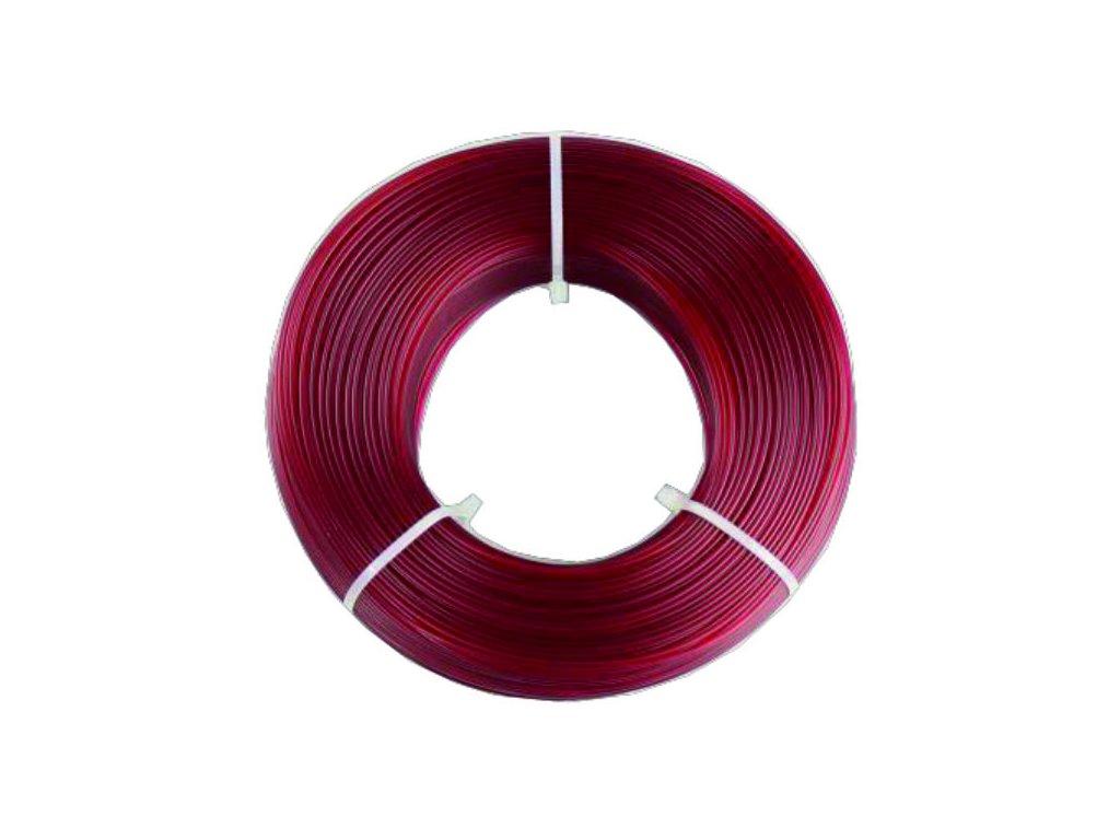 Fiberlogy tlačová struna PETG, Burgundy Transparent, 1,75mm, 0,85kg, bez cievky