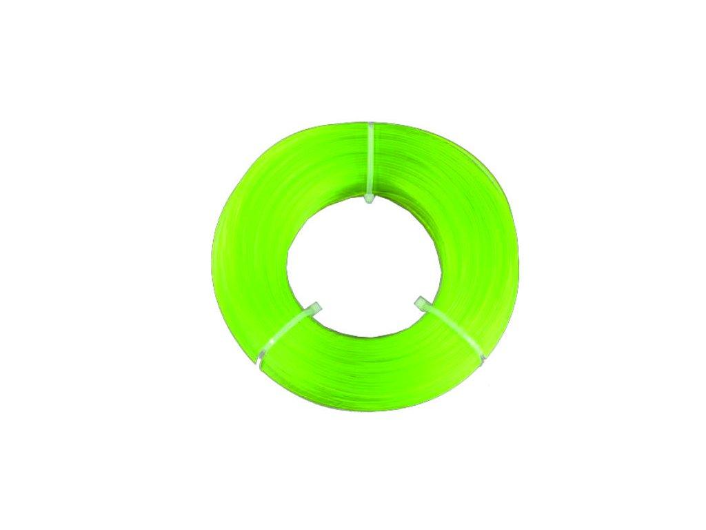 Fiberlogy tlačová struna PETG,Light GreenTransparent, 1,75mm, 0,85kg, bez cievky
