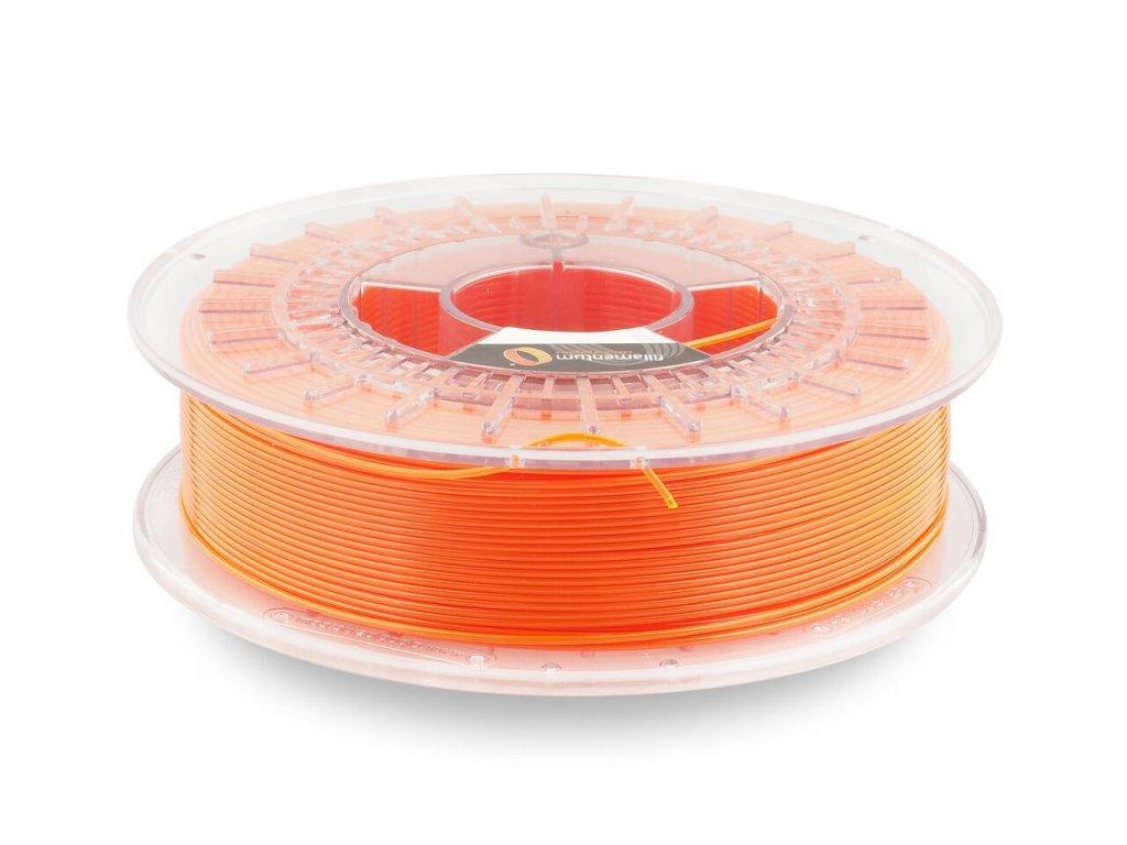 Fillamentum CPEHG100 - kopolyester neonovo oranžový transparentný - priesvitný, 2,85 mm, 0,75kg struna (+0,25kg cievka), BPA free
