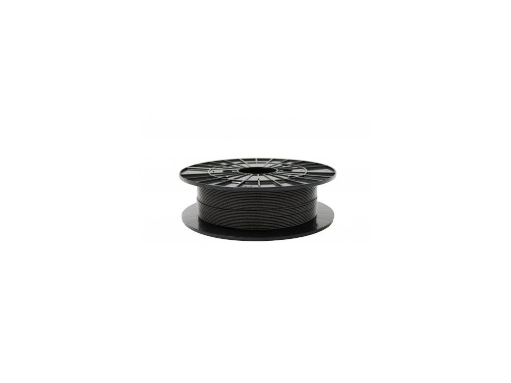 Tlačová struna, Plasty Mladeč, PLA, 1,75mm, graphit black (s trblietkami), 0,5 kg