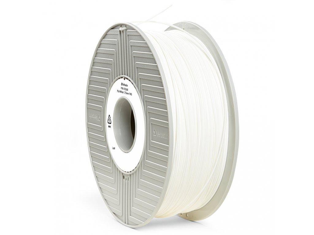 Verbatim tlačová struna PLA, white, 2,85 mm, 1 kg