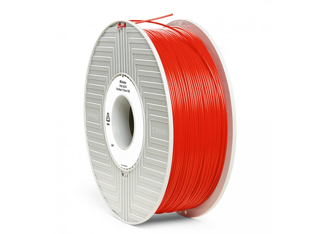 Verbatim tlačová struna PLA, red, 2,85 mm, 1 kg