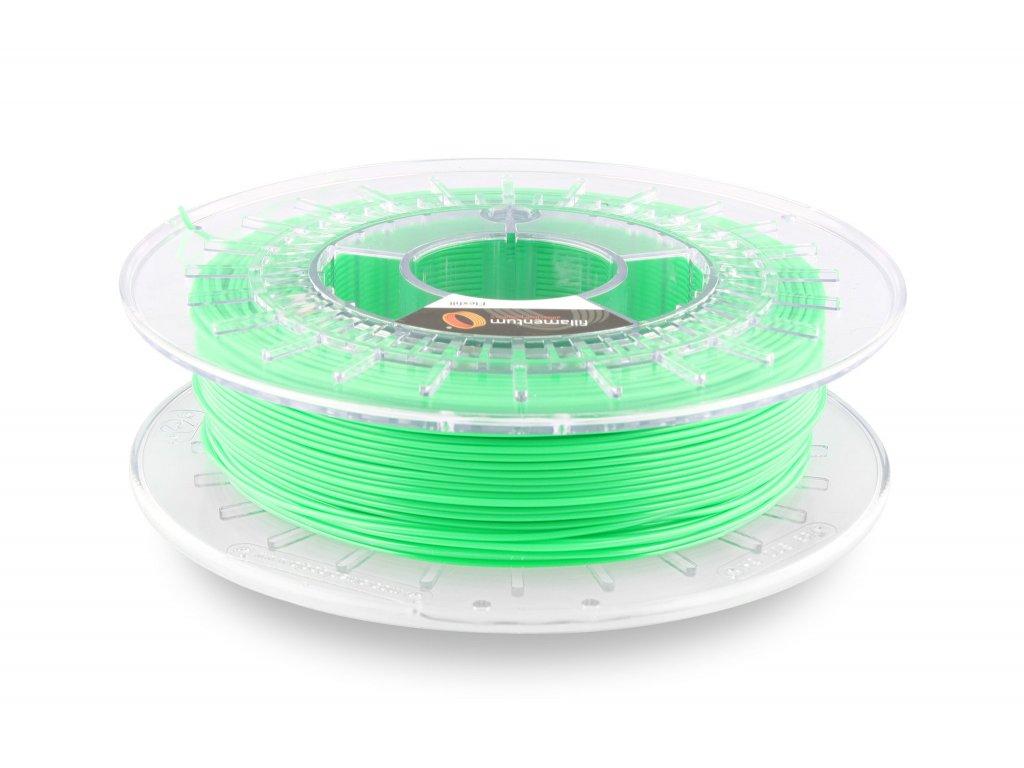 TPU značky Fillamentum 92A, 2,85mm, 0,5 kg, luminescenčná zelená, RAL 6038, Pantone P802