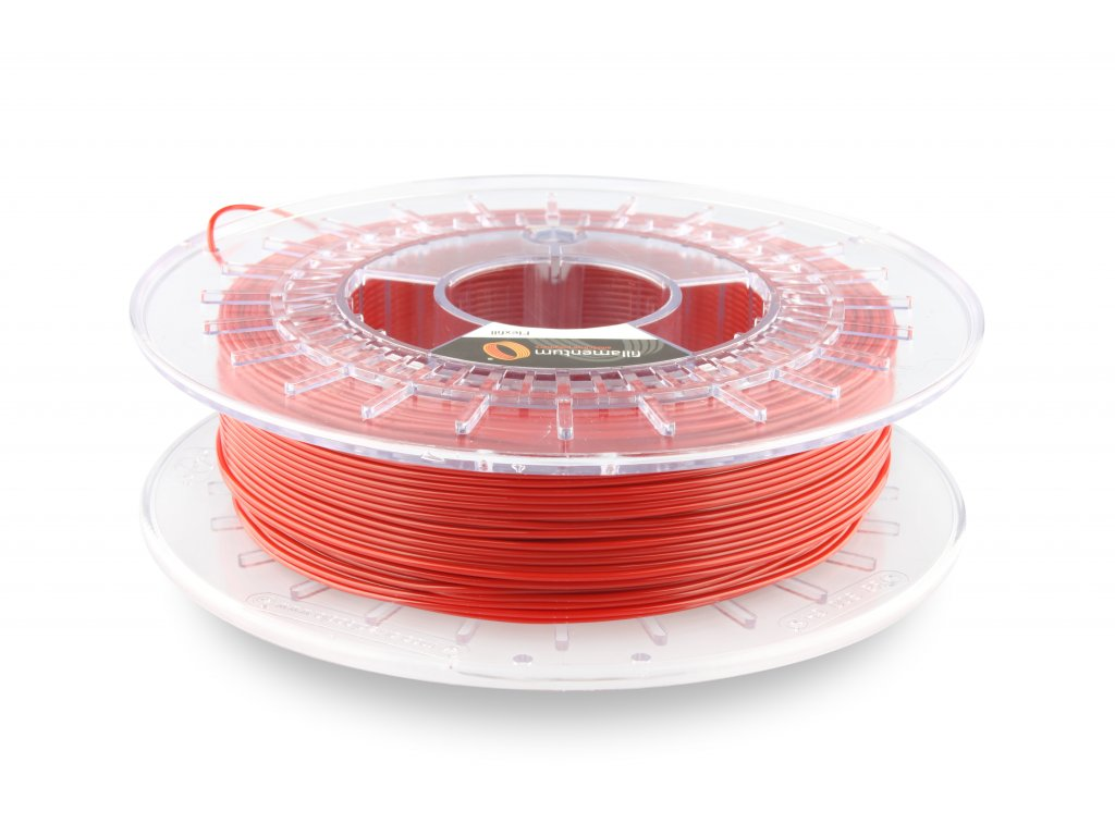 TPU značky Fillamentum 92A, 2,85mm, 0,5 kg, signal red RAL 3001