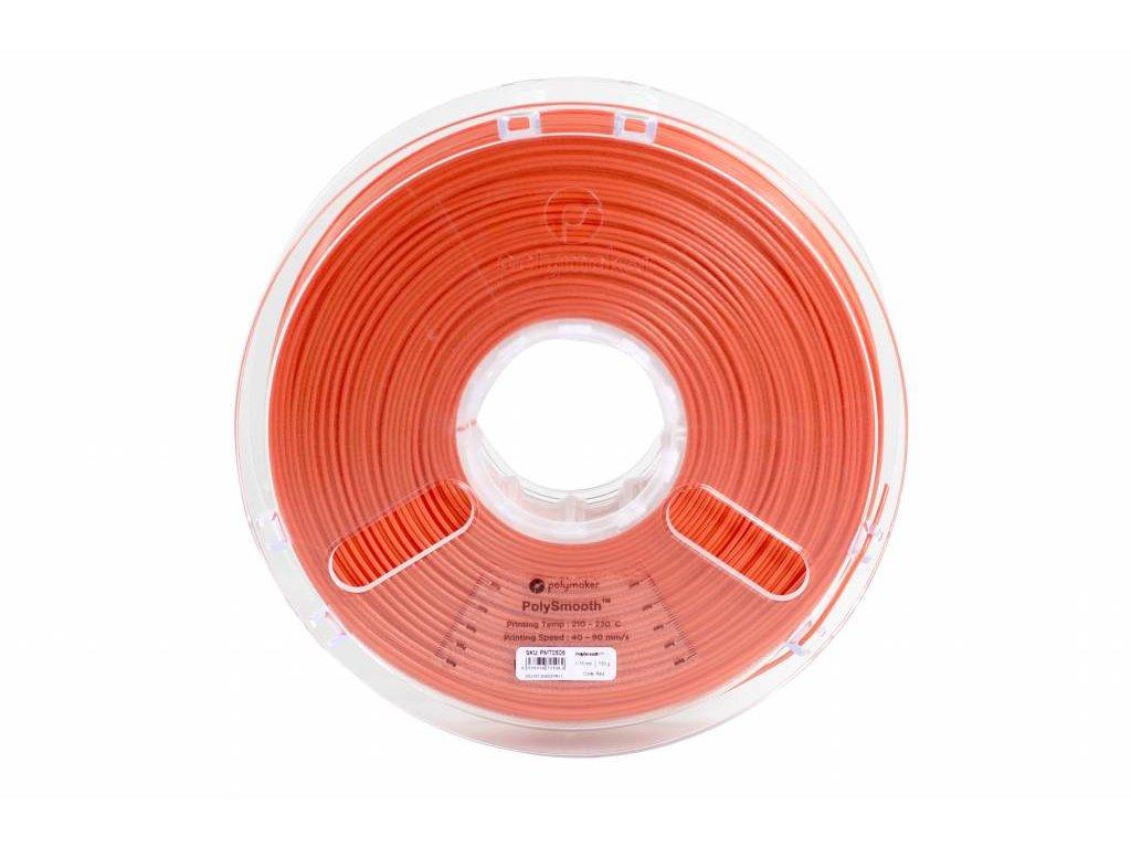 PolySmooth tlačová struna pre vyhladenie povrchu modelu alkoholom Layer free PVB 1,75mm Coral Red 0,75 kg