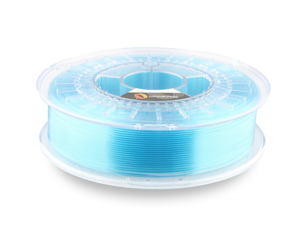"PLA Fillamentum, Crystal Clear ""Iceland Blue"", 2,85mm, 0,75kg cievka"