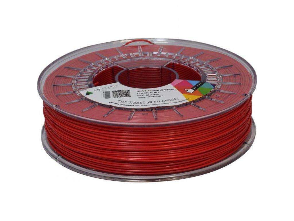 Smartfil ASA tlačová struna odolná voči poveternostným vplyvom a UV žiareniu, 1,75 mm, ruby, 0,75 kg
