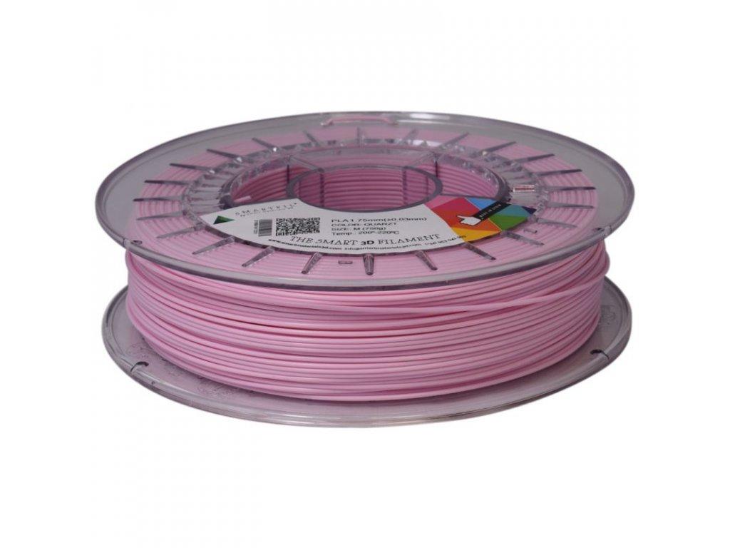 PLA tlačová struna antracite 1,75 mm Smartfil PASTEL - QUARTZ light pink 0,75 kg