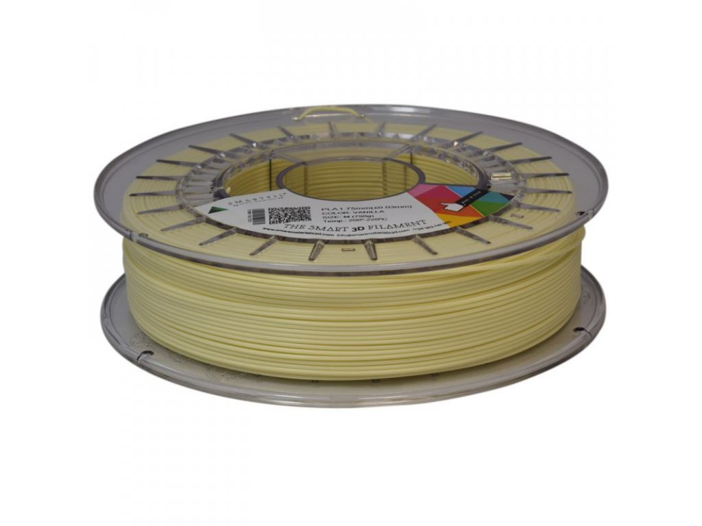 PLA tlačová struna antracite 1,75 mm Smartfil PASTEL - VANILLA light yellow 0,75 kg
