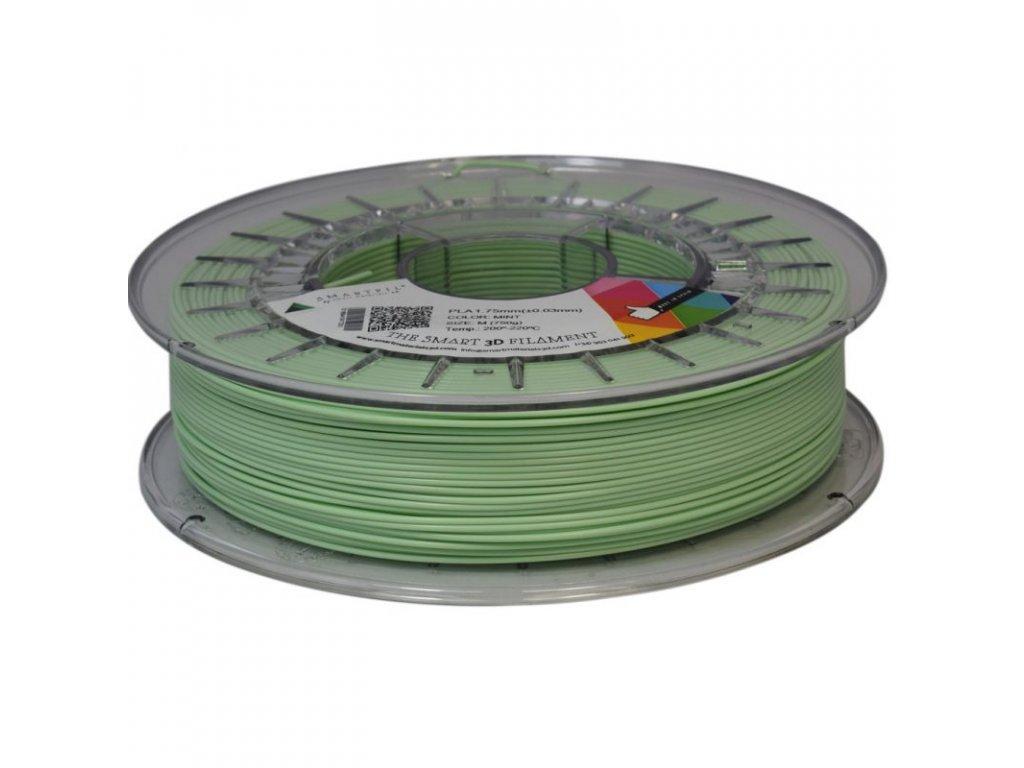 PLA tlačová struna antracite 1,75 mm Smartfil PASTEL - MINT mentolová 0,75 kg