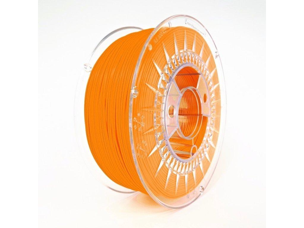 PETG Devil Design, 1,75 mm, 1 kg, bright orange,Pantone 804C - Upozornenie k odtieňa - Riaďte sa podľa vzorkovníka, nemožno túto fatbu vierohodne vyfotiť.