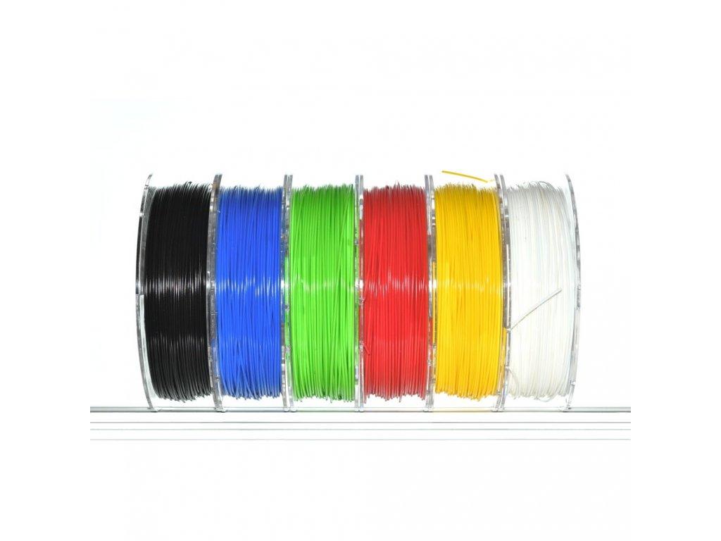 Devil Design balenie 6 ks tlačovýchstrún ABS+ 1,75 mm,6x330g - čierna, biela, modrá, zelená, červená, žltá