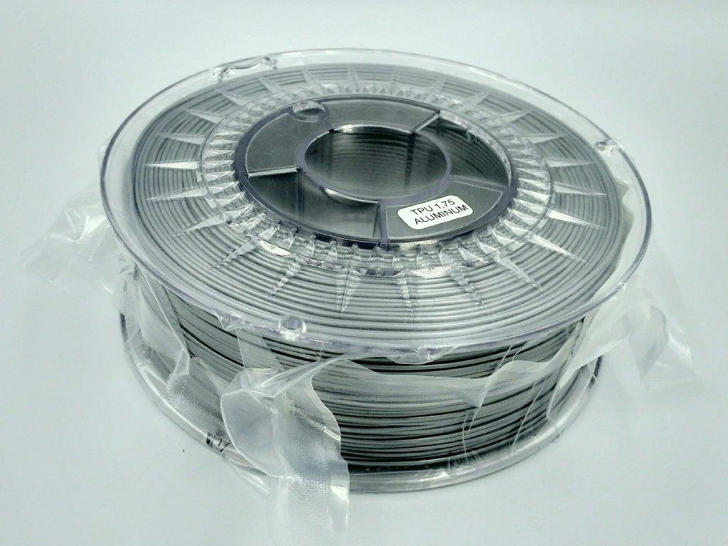 Termoplastický polyuretán, Devil Design, tlačová struna odtieň aluminium, 1,75 mm, 1 kg