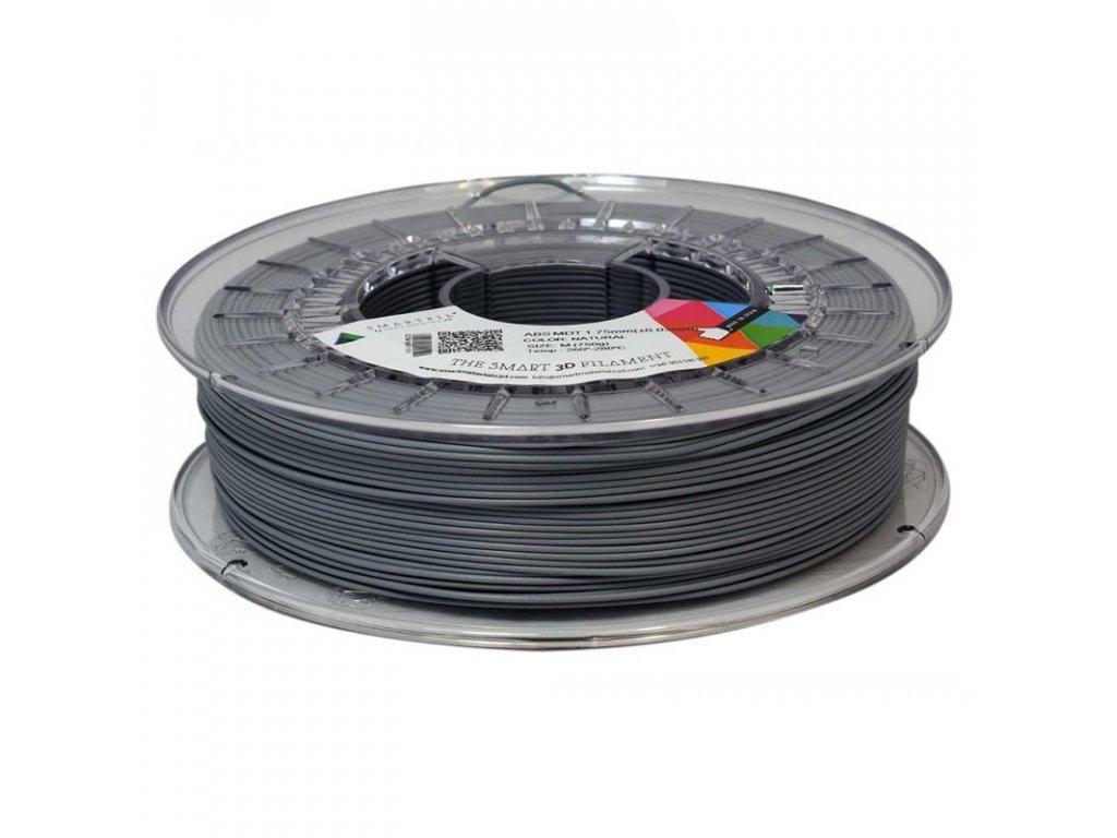 ABS MDT - magneticky detekovateľný termoplast; tlačová struna natural - sivá 1,75 mm Smartfil