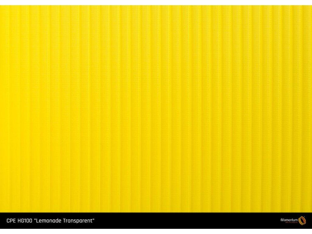 CPE HG100 Lemonade Translucent žltá 3D struna Fillamentum 1,75mm 750g