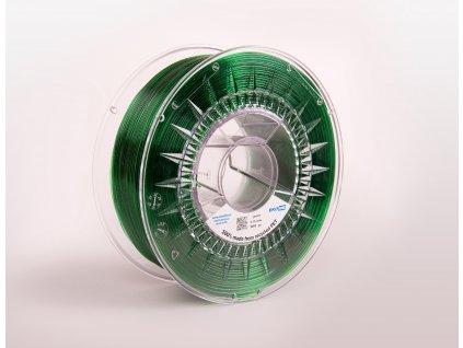 PET filament z recyklátu 1,75 mm zelený transparent EKO-MB 1 kg