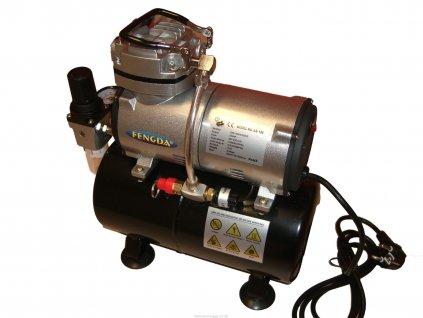 Airbrush hobby kompresor Fengda AS-186 s tlakovou nádobou