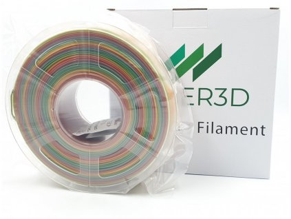 PLA filament multicolor dúhový 1,75mm Fiber3D 1kg SILK