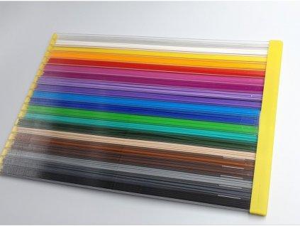 Struny do 3D pera PLA 1,75mm 330mm 20 farieb (100bm)
