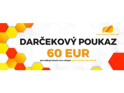 Darčekový poukaz pre nákup v hodnote 60 EUR