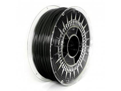 Devil Design tlačová struna PLA, black, 1,75 mm, 1 kg, RGB 0, 0, 0; Pantone C2