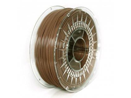 Devil Design tlačová struna PLA, brown, 1,75 mm, 1 kg, RGB 116, 62, 43; Pantone 478C
