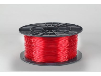 Tlačová struna, Plasty Mladeč, PET-G, 1,75 mm, red transparent, 1 kg