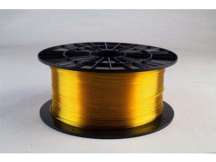 Tlačová struna, Plasty Mladeč, PET-G, 1,75 mm,yellow transparent, 1 kg