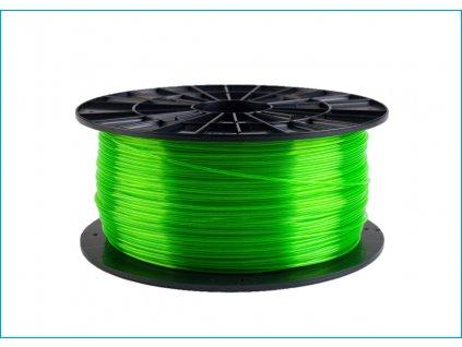 Tlačová struna, Plasty Mladeč, PET-G, 1,75 mm, 1 kg, green transparent