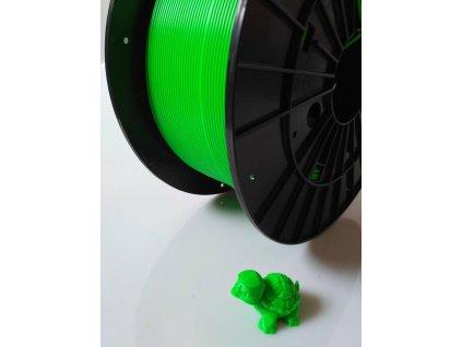Tlačová struna, Plasty Mladeč, PLA, 1,75mm, fluorescent green, 1 kg