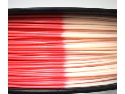 ABS struna citlivá na teplotu Herz tlačová struna1,75mm red/white 1kg