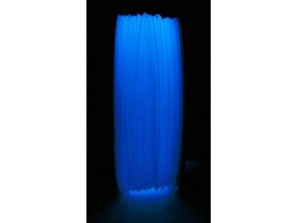 ABS luminiscenčná - glow in dark modrá tlačová struna Herz 1,75mm 1kg