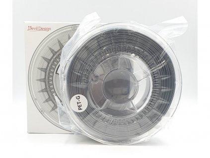 PET-G tlačová struna 1,75 mm PC sivá Devil Design 1 kg