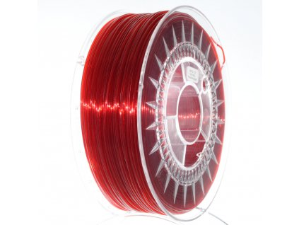 PETG Devil Design, 1,75 mm, ruby red transparent/translucent, 1 kg