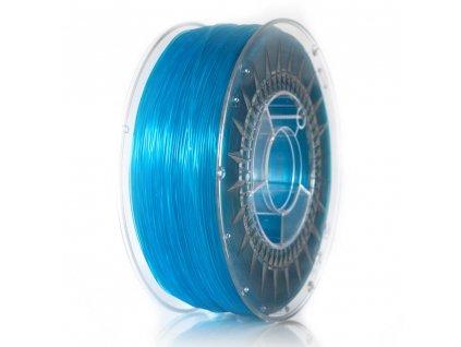 Devil Design tlačová struna, ABS, blue transparent, 1,75 mm, 1 kg