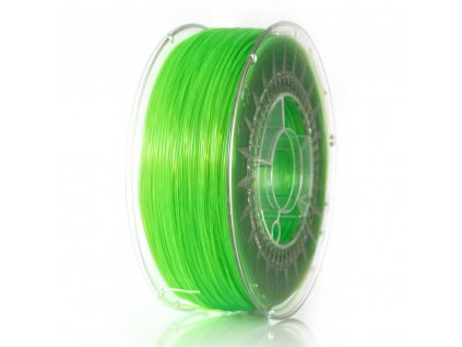 Devil Design tlačová struna, ABS, green transparent, 1,75 mm, 1 kg