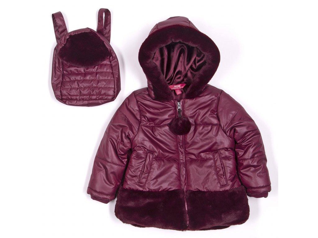 Zimní bunda s batůžkem