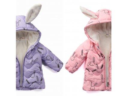 Zimní bunda zajíček