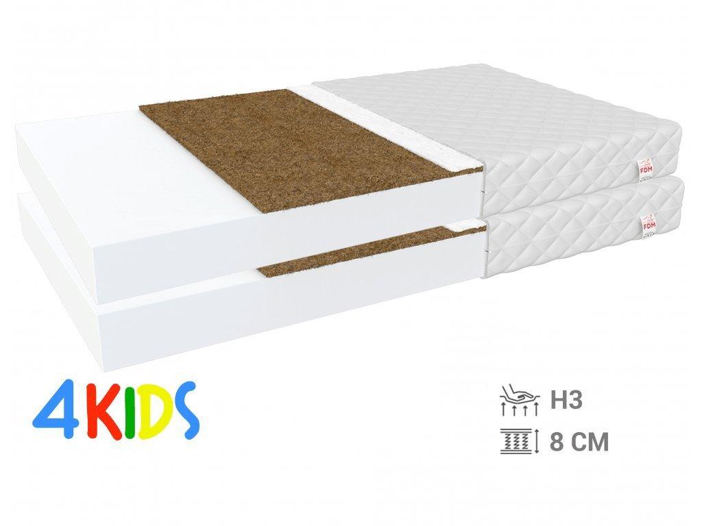 Bambino Coir 90x200 gyerekmatrac kókusszal (2db) 1+1