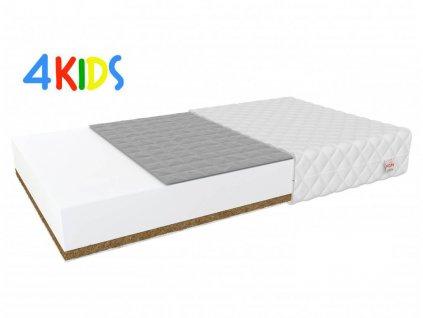 Matrac gyerekeknek hajdina/kókusz Bambino Console 180x90