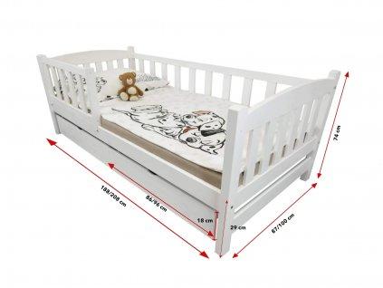 OLGA 2 ágy ágyneműtartóval - fehér