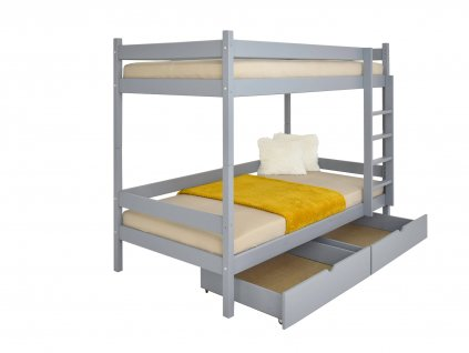 Paula 2 emeletes ágy 200x90 Grafit