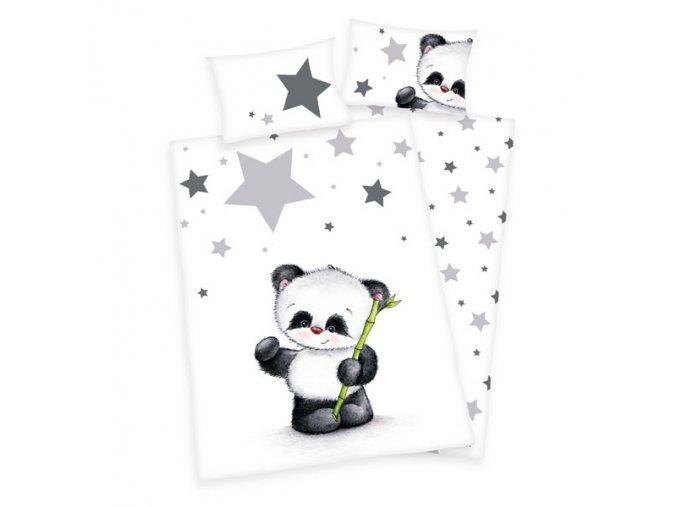 Ágyneműhuzat kiságyba Kis panda 135x100