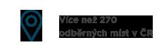 Více než 270 odběrných míst v ČR