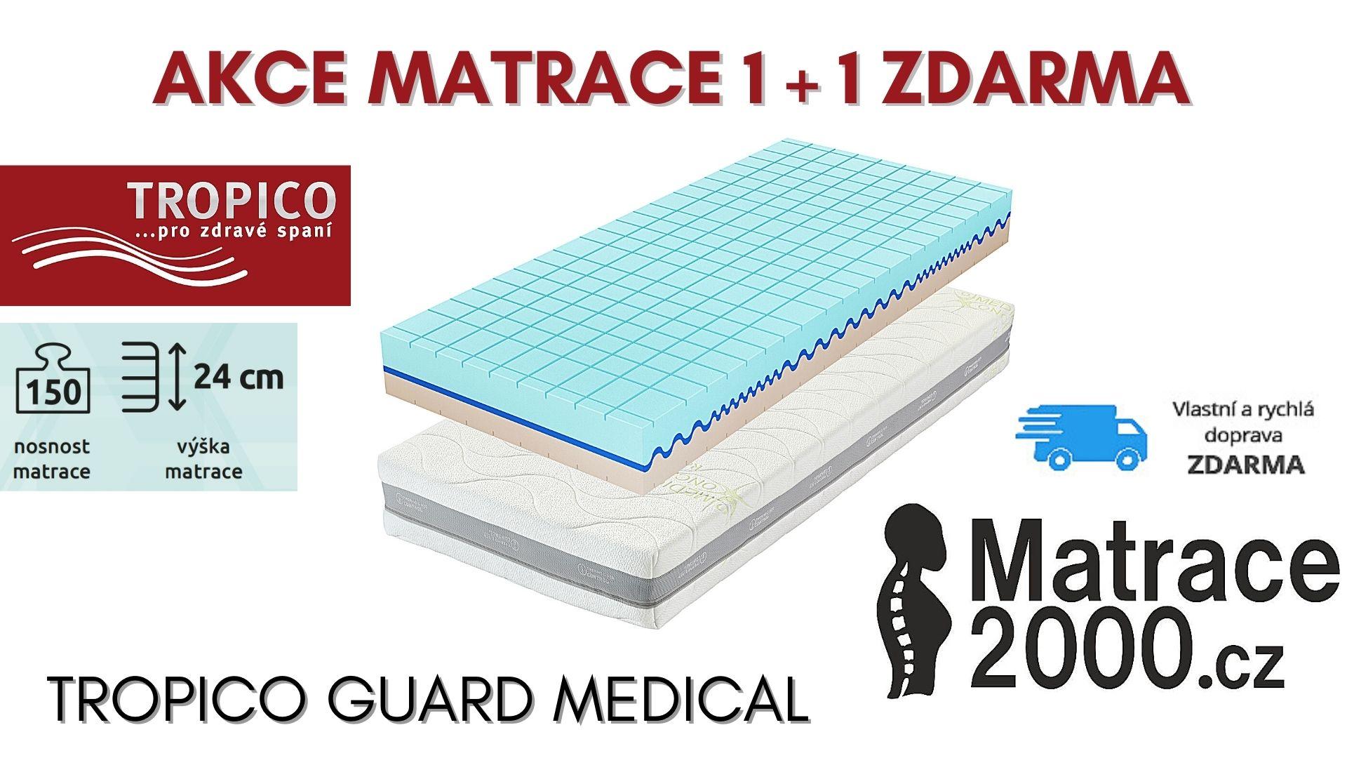 Matrace Tropico Guard Medical výška 24 cm s matracovým chráničem - Matrace2000.cz