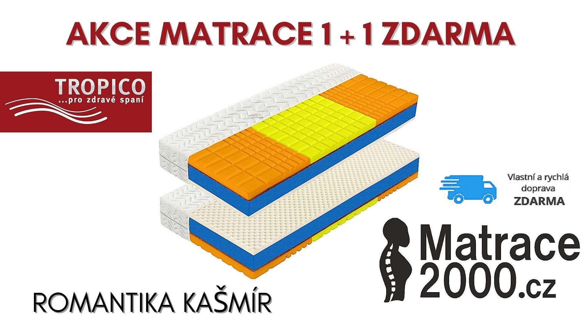 Matrace Tropico Romantika Kašmír + prodloužená záruka + matracový chránič v hodnotě 555 Kč - Matrace2000.cz